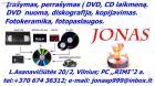 Perrasymas ir irasymas i DVD, CD is VHS, VHS-C, Mini DV, Digital8, ,diskografija ant disku.