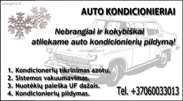Nebrangiai ir kokybiškai atliekame auto kondicionierių pildymą ! Tel 860033013-alioskelbimai