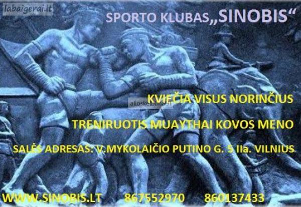 Muay Thai Tailando Bokso treniruoites Vilniuje.