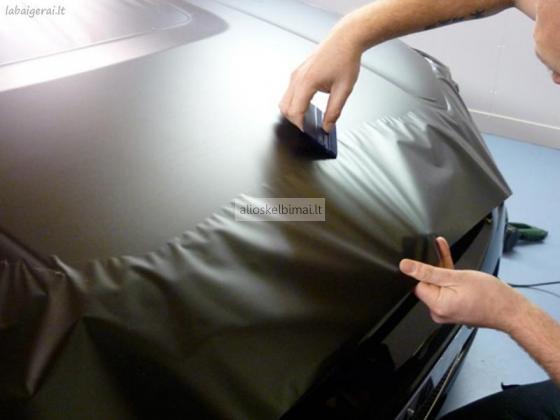 Pilnas, dalinis automobilio kėbulo apklijavimas plėvele-alioskelbimai