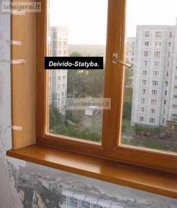 Plastikinių langų  apdaila-alioskelbimai