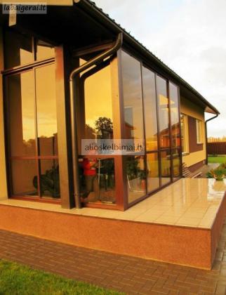 Terasų ir balkonų stiklinimas, kiti aliuminio profilio gaminiai-alioskelbimai
