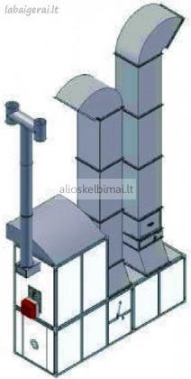 Dažymo kameros ventiliatoriai su šilumokaičiu ir valdymo pultu-alioskelbimai