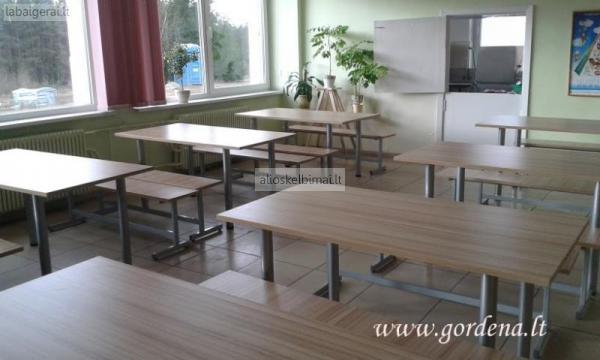 Baldai mokyklų,gimnazijų valgykloms-alioskelbimai