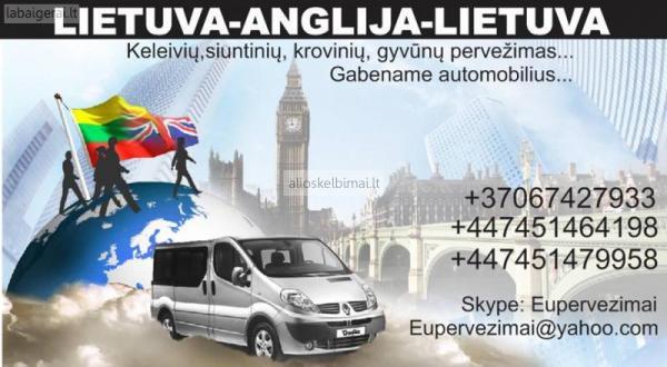 Kiekviena savaite vykstame marsrutu Lietuva-Anglija-Lietuva.-alioskelbimai