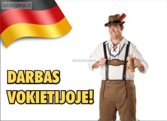 Reikalingi darbuotojai Vokietijoje-alioskelbimai