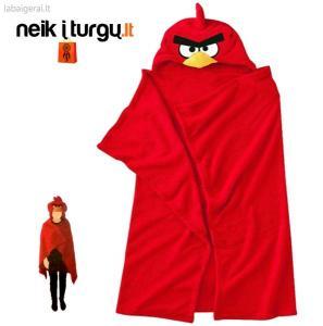 Rankšluostis - skraistė su gobtuvu - Angry Birds
