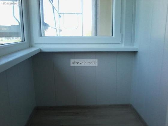 Balkonų šiltinimas vidaus remontas apdaila apkalimas apdailos dailylentėmis Klaipėdoje-alioskelbimai