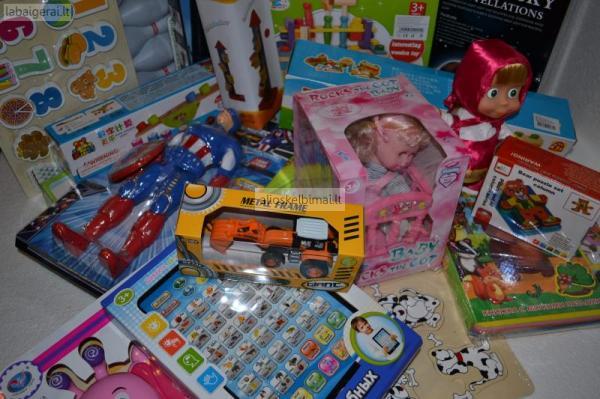 įvairūs žaislai, žaidimai