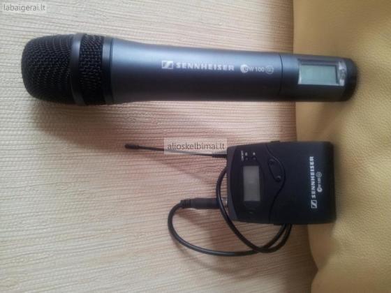 Nešiojamas rankinis radio mikrofonas-alioskelbimai