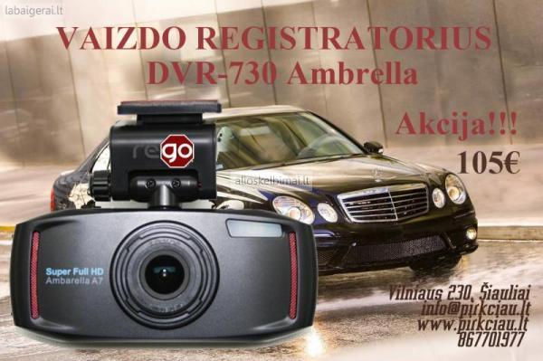 AKCIJA!!! DVR Vaizdo registratorius DVR-730 Ambarella 170°-alioskelbimai