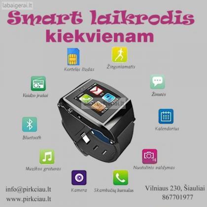 Išmanusis laikrodis: telefonas, multimedija, kamera, internetas ir kiti privalumai-alioskelbimai