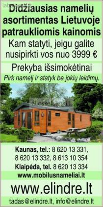 Naudoti mobilūs nameliai-alioskelbimai
