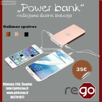"""Nešiojama baterija, universalus pakrovėjas """"Power bank""""-alioskelbimai"""