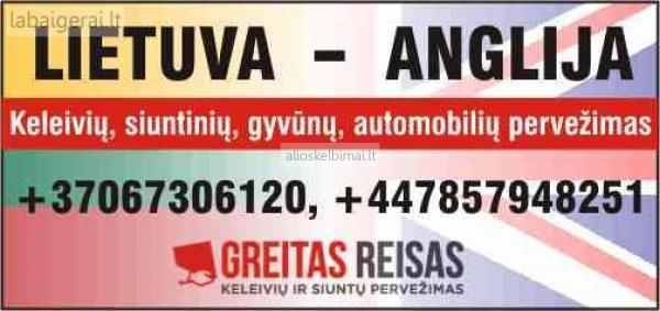 RYTOJ iš Lietuvos į Angliją keleiviu siuntu auto pervežimai  +37067306120-alioskelbimai