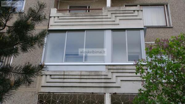 Balkonų ir terasų stiklinimas-alioskelbimai