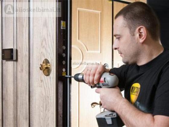 Šarvuotų durų remontas ,spynų keitimas-alioskelbimai