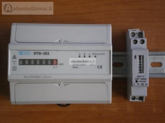 Elektros energijos skaitiklis. Modulinis elektros skaitikliai.