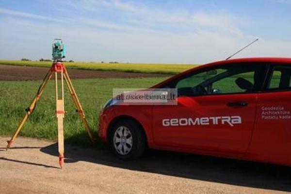 Geodeziniai matavimai, kadastriniai matavimai, teritorijų planavimas