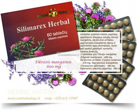 Silimarex Herbal 60 tabl – KEPENŲ VEIKLAI-alioskelbimai