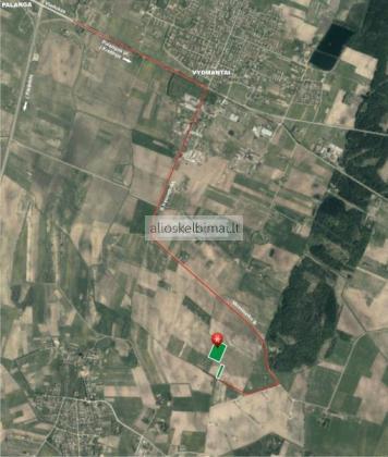 Parduodamas žemės ūkio paskirties sklypas netoli Palangos. Kretingos sen., Kiauleikių k. / Vydmantų k.