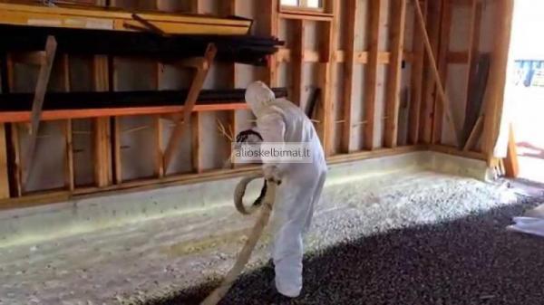 Pastatų šiltinimas purškiamomis poliuretano putomis-alioskelbimai