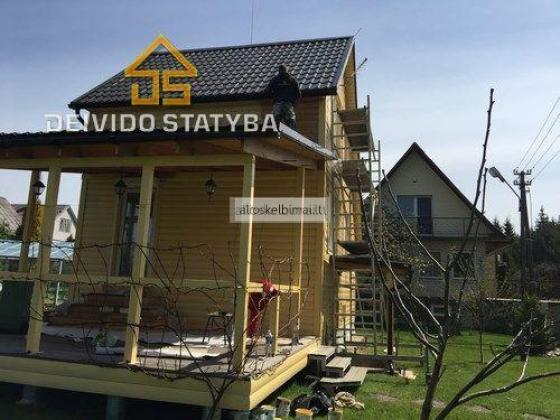 Dažome Medinius namus, po visą Lietuvą.