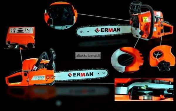 Motorinis benzininis pjūklas Erman 5201