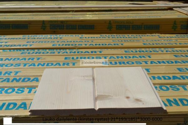 Dailylentės, grindinės, terasinės, pakalimo, tvoros lentos
