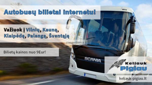 Autobusai: Vilnius - Kaunas - Klaipėda - Palanga - Šventoji.-alioskelbimai