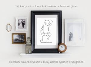 Naujiena Lietuvoje, pati nuostabiausia interjero detalė susilaukus naujagimio.