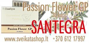 Passion Flower GP 30 kaps - maisto papildas SANTEGRA / +370 612 17997