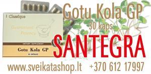 Gotu Kola GP 30 kaps - maisto papildas SANTEGRA / mob: 8 612 17997